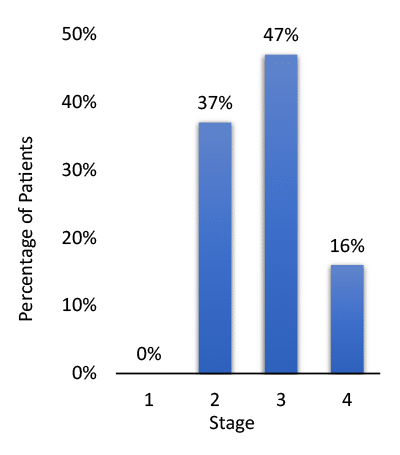 Estimated El Escorial Stage at Enrollment of Pivotal Trials( N=959)
