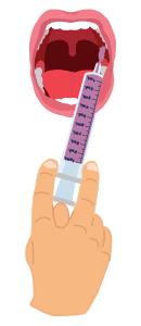 Oral Administration graphic for TIGLUTIK